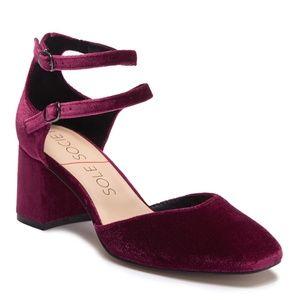 BRAND NEW Sole Society Ruby Red Block Heel Pump